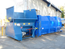 15 hp Auger Compactor with 20 yard container
